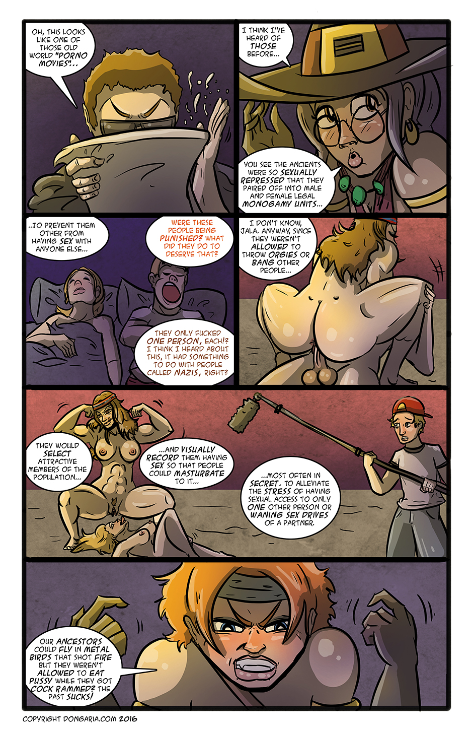 Babes of Dongaria Chapter 3 Page 8: The Horrible Past