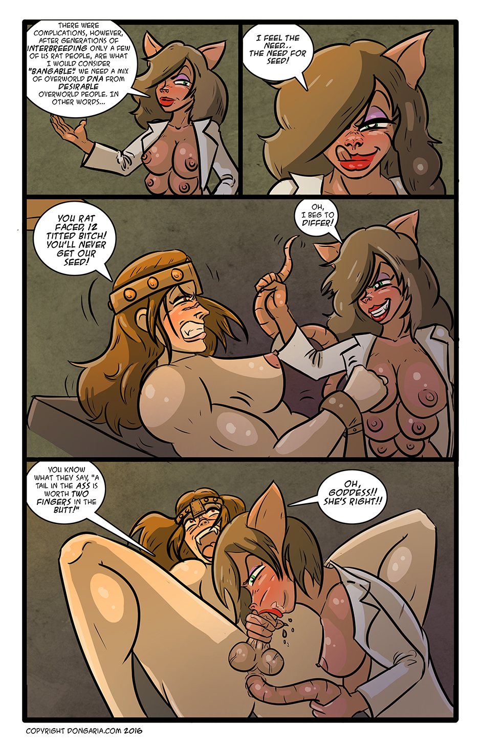 Babes of Dongaria Chapter 3 Page 17: Tortured For Sexy Science!