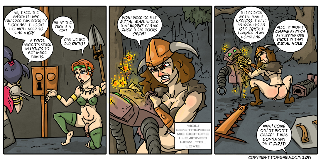 Babes of Dongaria Page 12: Call a Locksmith!