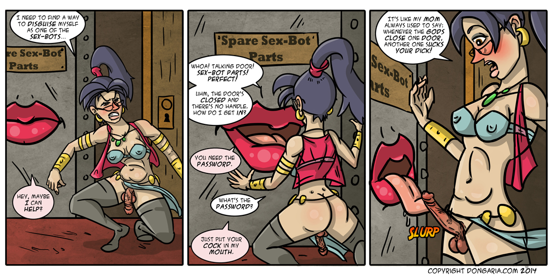 Babes of Dongaria Page 20: The Door