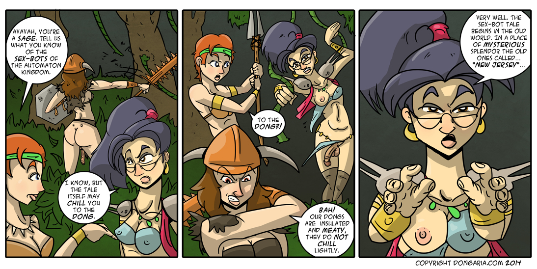Babes of Dongaria Page 8: Through The Jungle