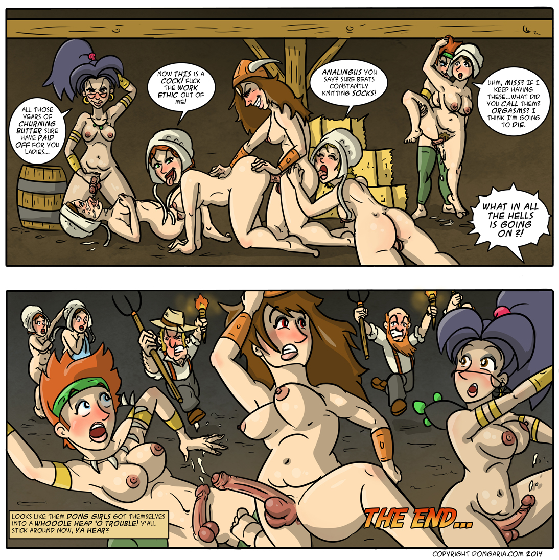 Babes of Dongaria Page Double 33: Trouble!